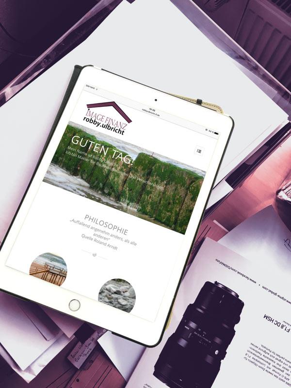 Website Robby Ulbricht Imagefinanz