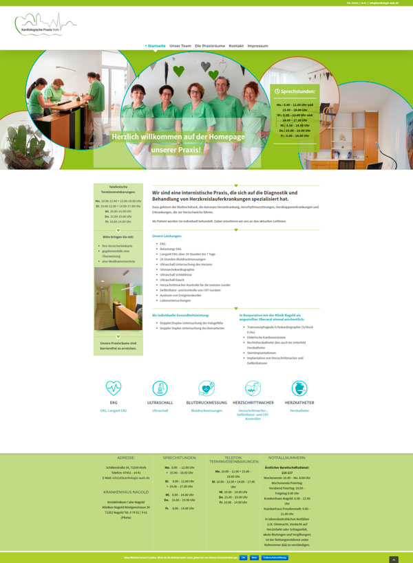 Website Kardiologie-Walz in Horb